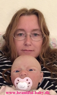 Myelf and one of the silicone dolls I have painted. Her name is Leah, and is  one-of-a-kind GIRL 'Buddy* sculpt by Lilianne Breedveld.