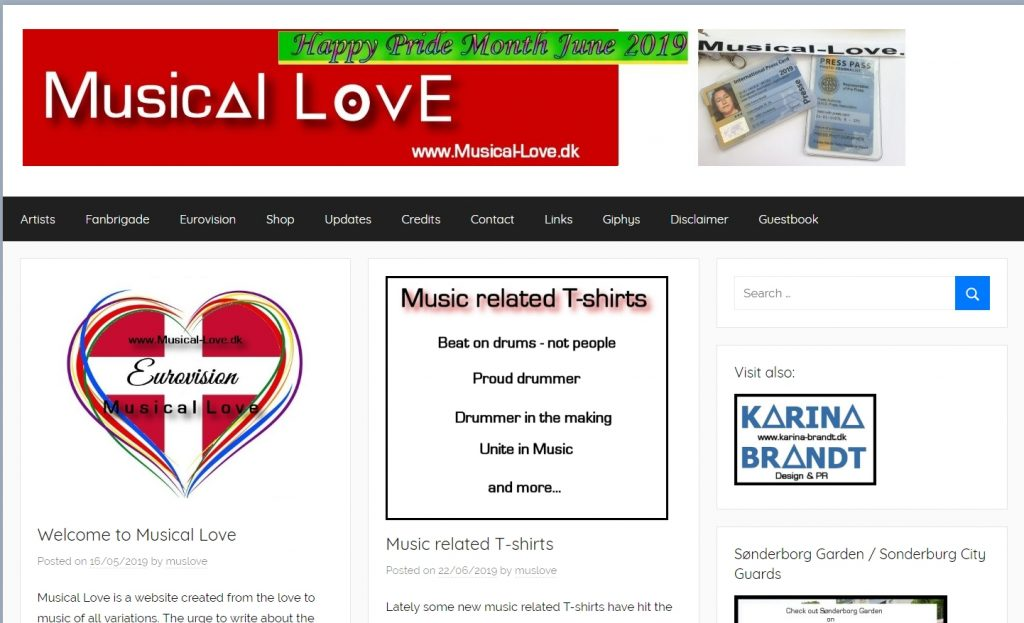 Musical Love, online PR website for selected artists